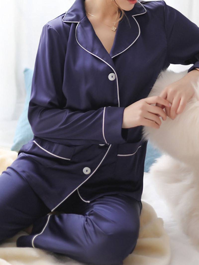 Ericdress Polyester Casual Long Sleeve Pajama Suit