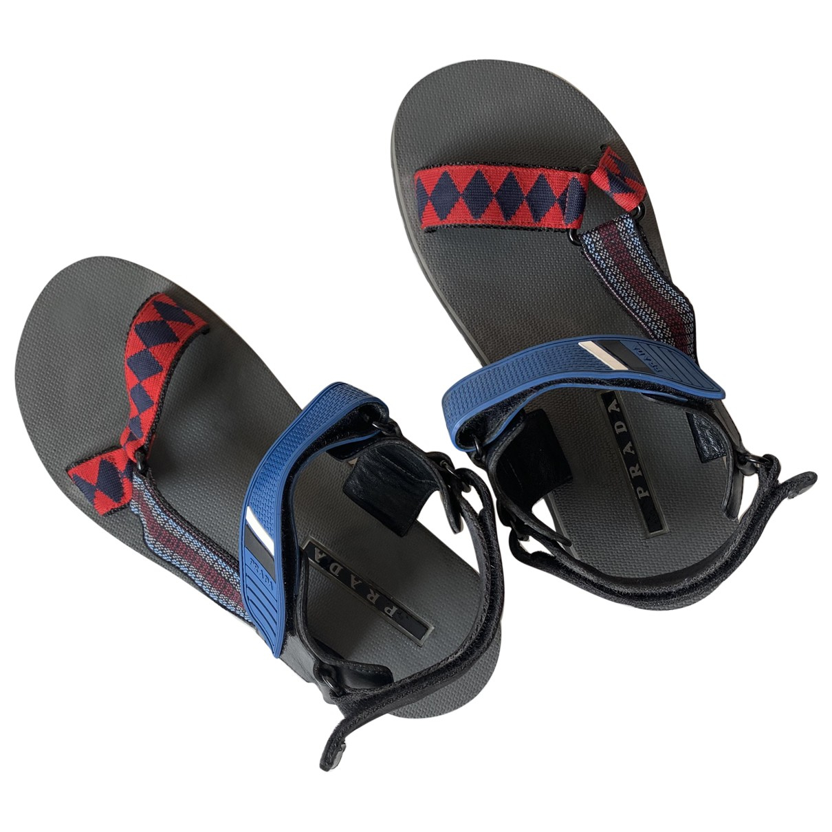 Prada \N Blue Rubber Sandals for Women 42 EU