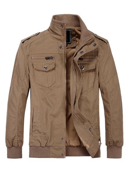 Milanoo Men\'s Quality Military Style Bomber Jackets