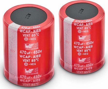 Wurth Elektronik 82μF Electrolytic Capacitor 450V dc, Through Hole - 861221483002 (5)