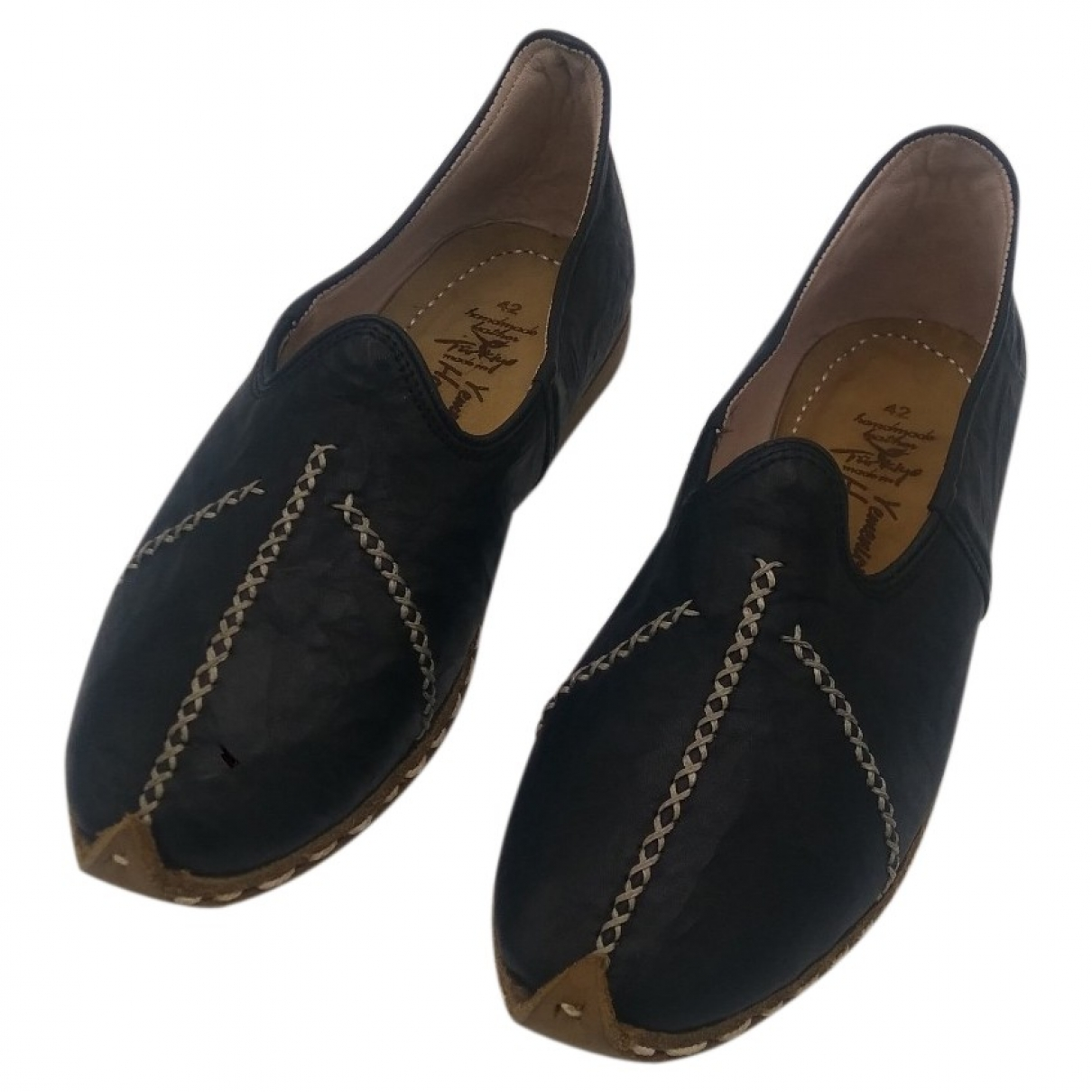 & Stories \N Black Leather Flats for Women 10 US