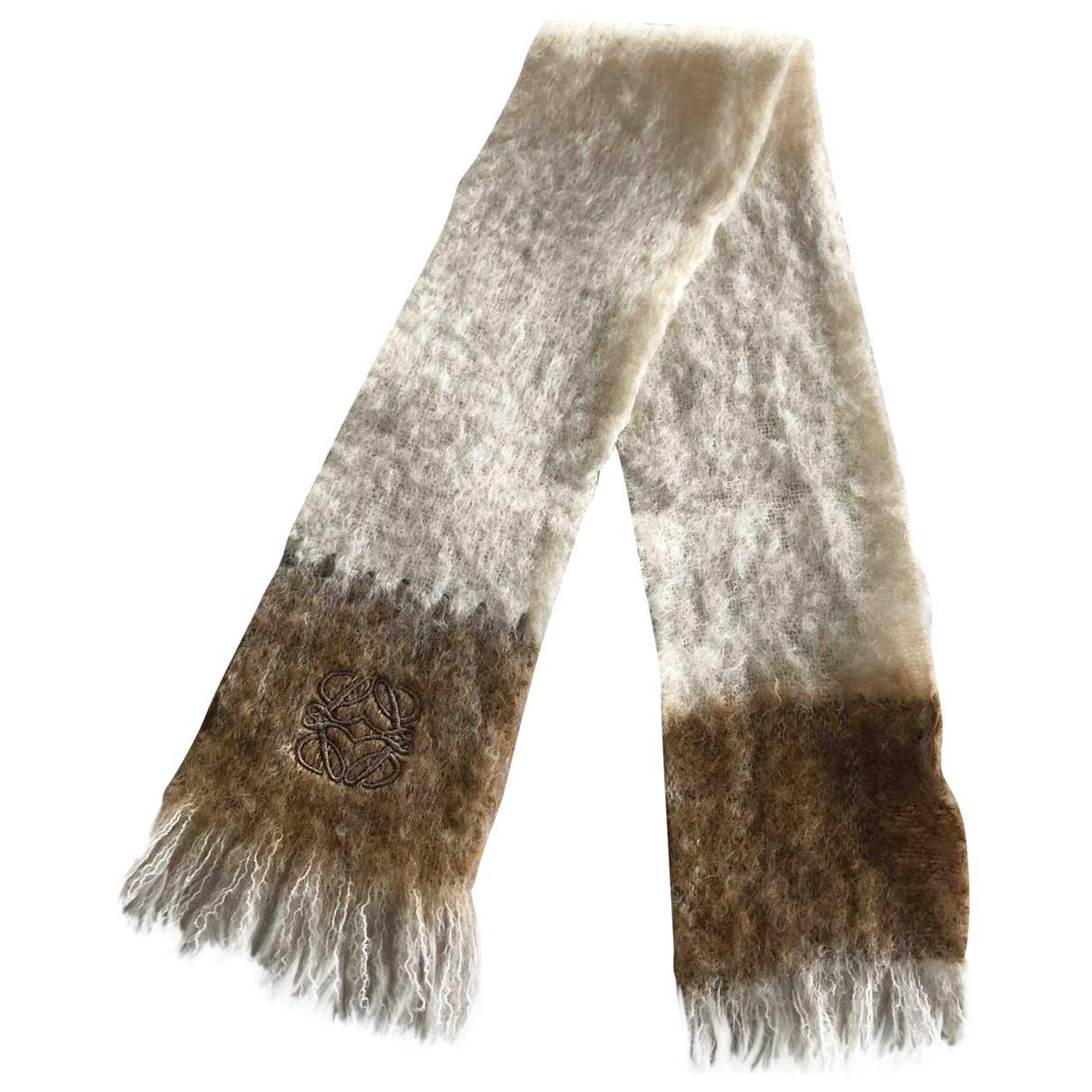 Loewe \N Beige Wool scarf for Women \N