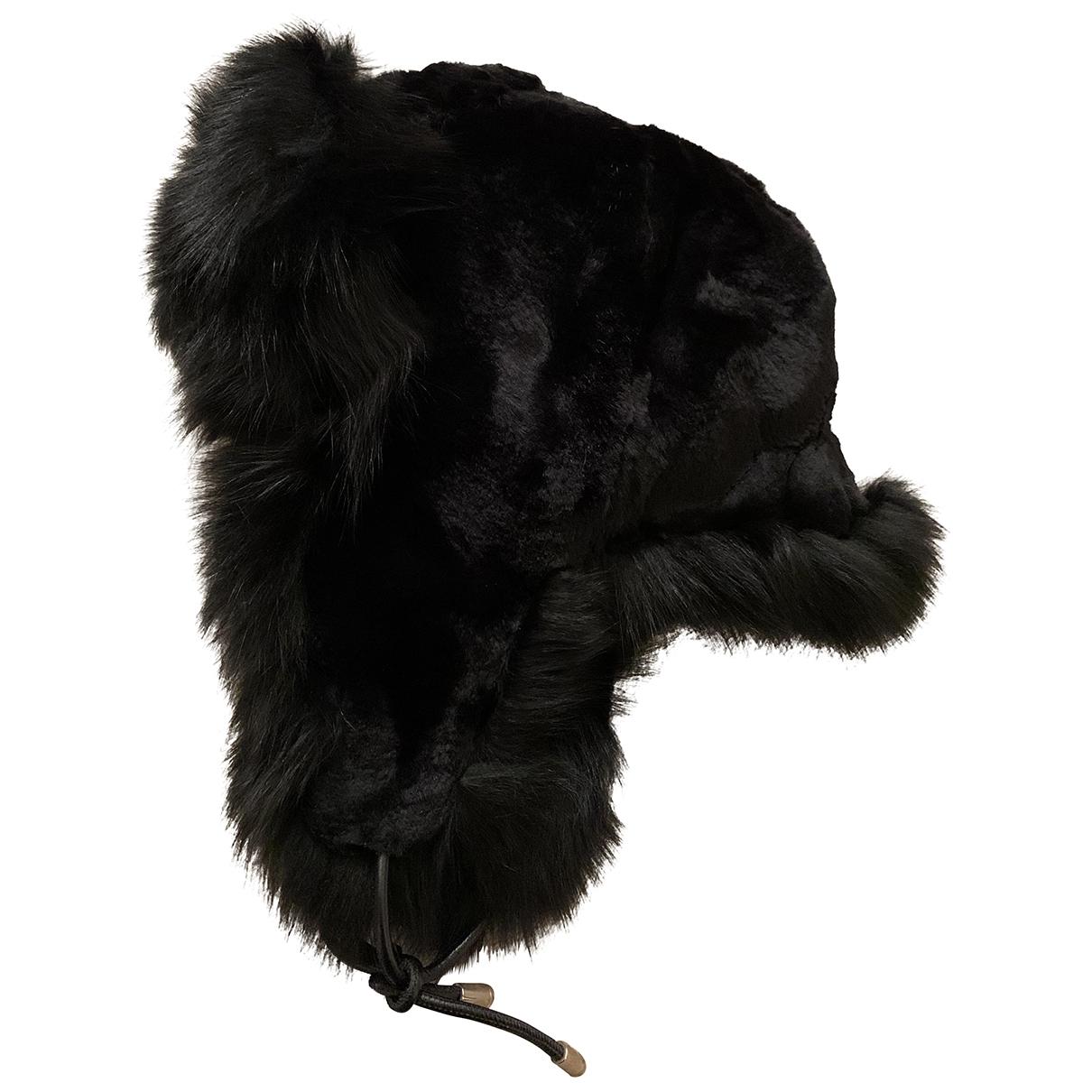 Yves Salomon \N Black Fox hat for Women S International