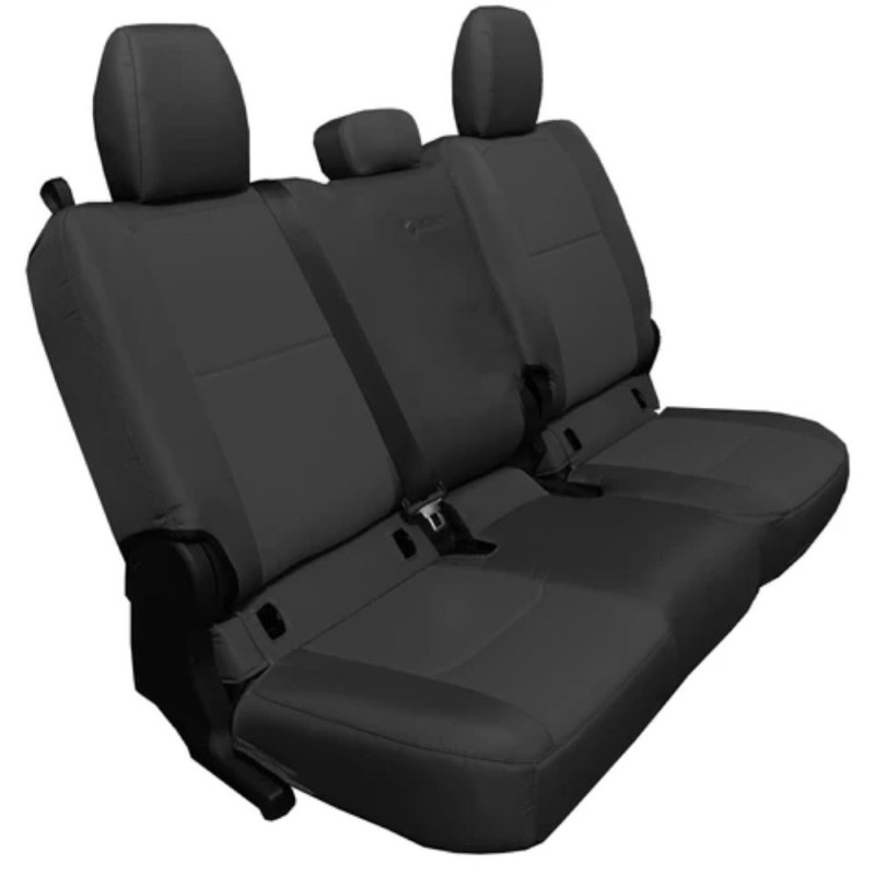 Bartact JTSC20194FBB Rear 4 Door Seat Covers 2019 and Up Jeep Gladiator Black/Black Without Arm Rest