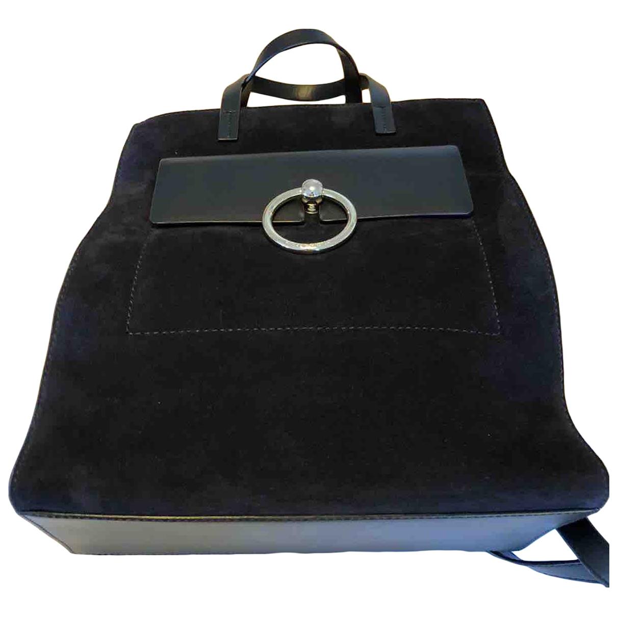 Claudie Pierlot \N Navy Suede handbag for Women \N