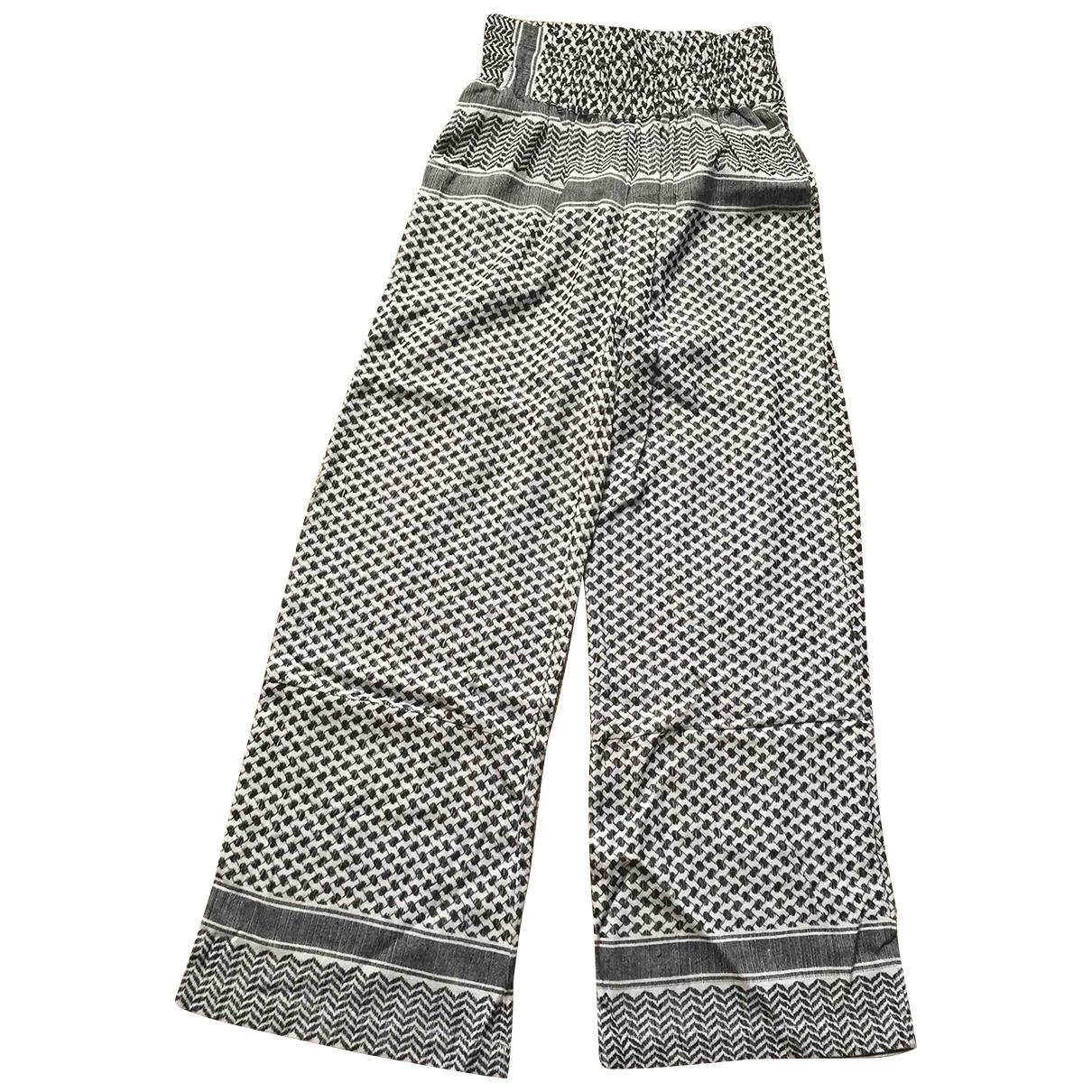 Cecilie Copenhagen \N Black Cotton Trousers for Women 1 0-5