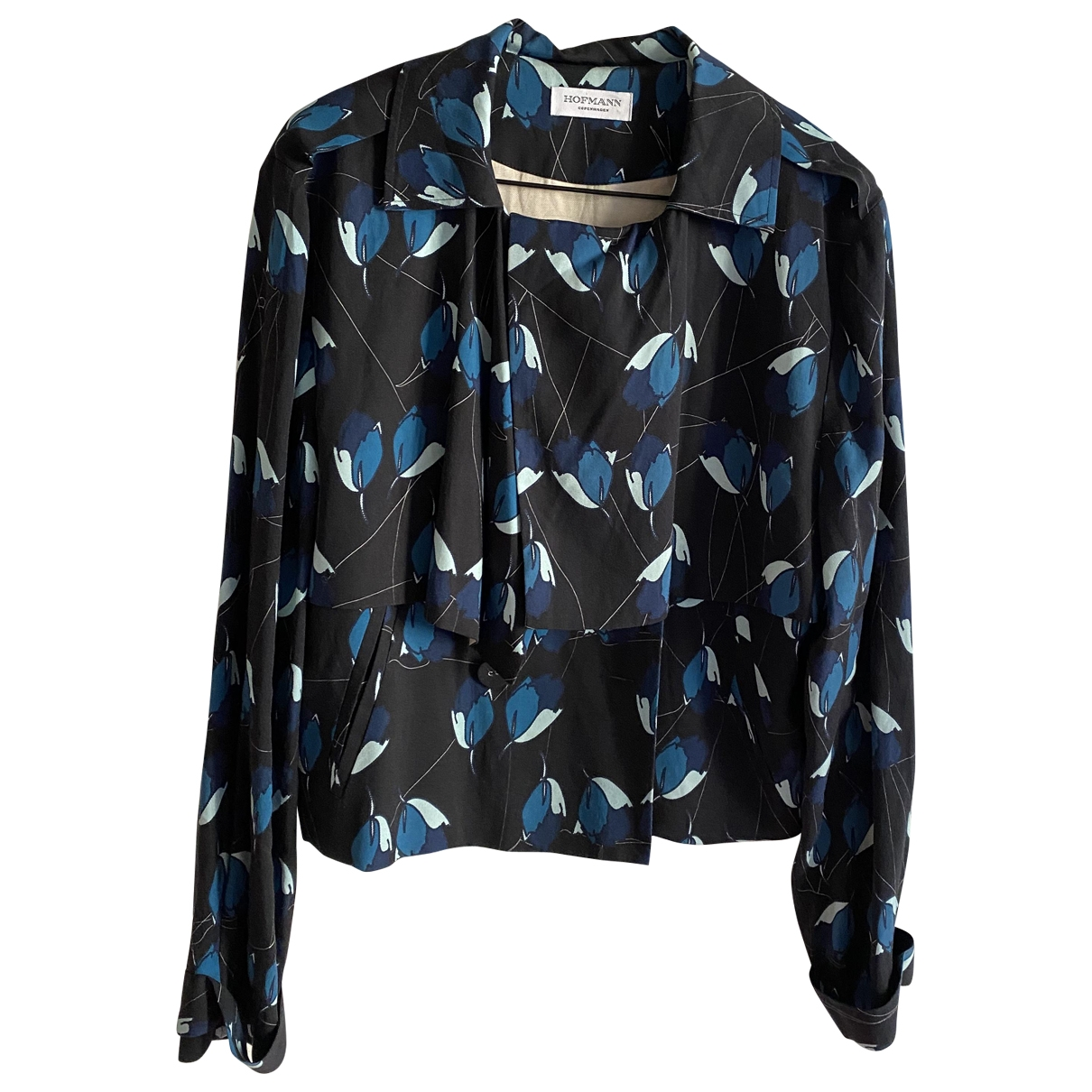 Non Signé / Unsigned \N Blue jacket for Women 36 FR