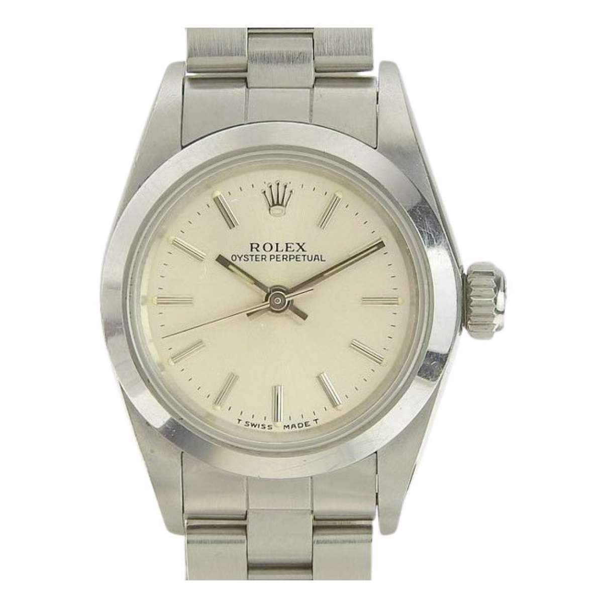 Rolex Lady Oyster Perpetual 26mm Silver Steel watch for Women \N