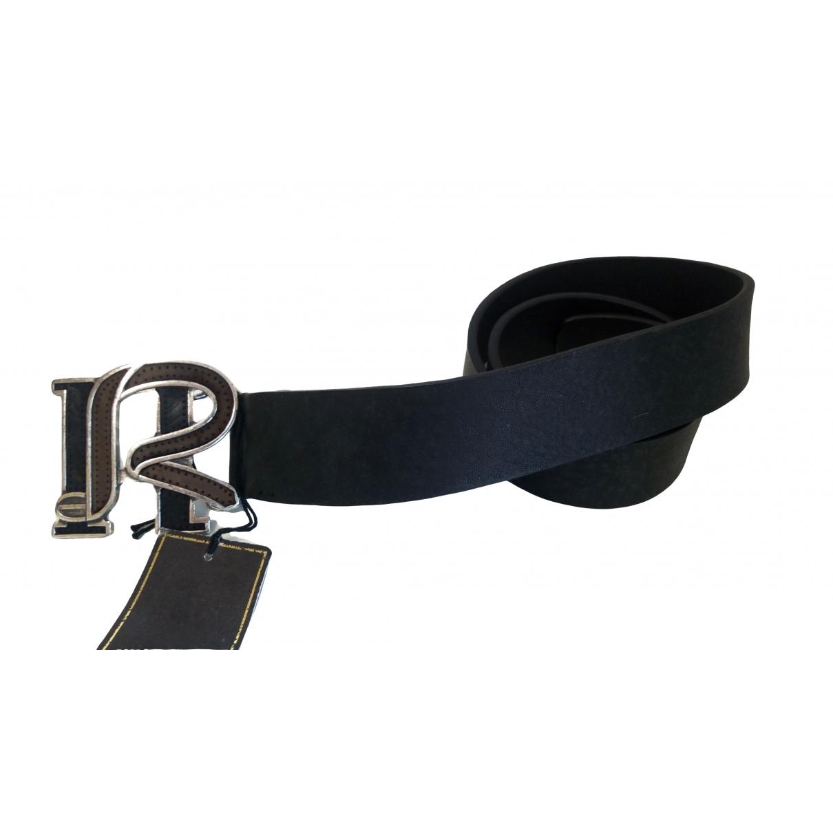 Roy Roger's \N Black Leather belt for Men 85 cm