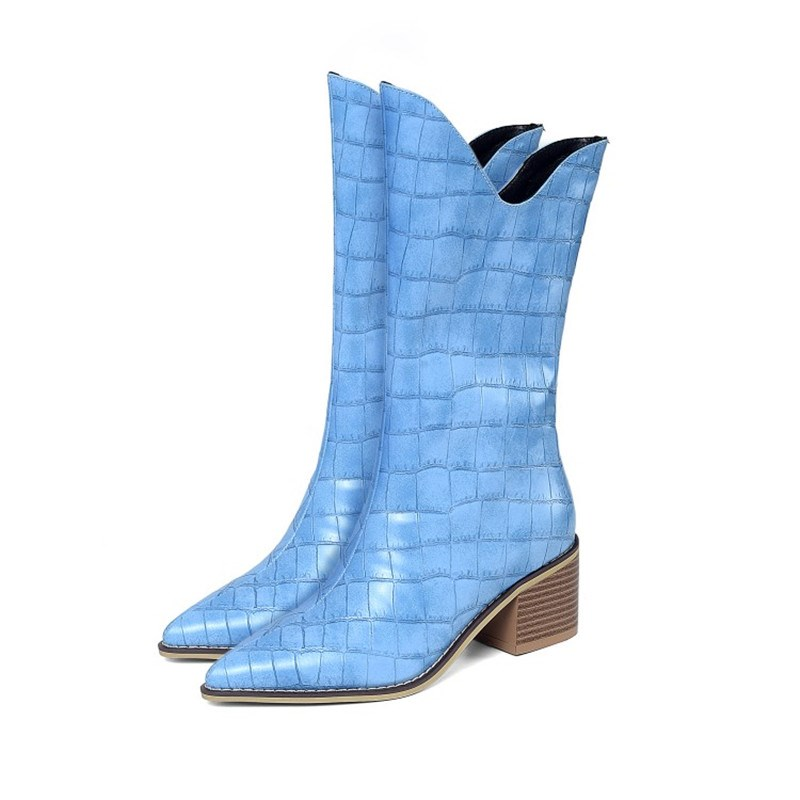 Ericdress Pointed Toe Slip-On Plain OL Boots