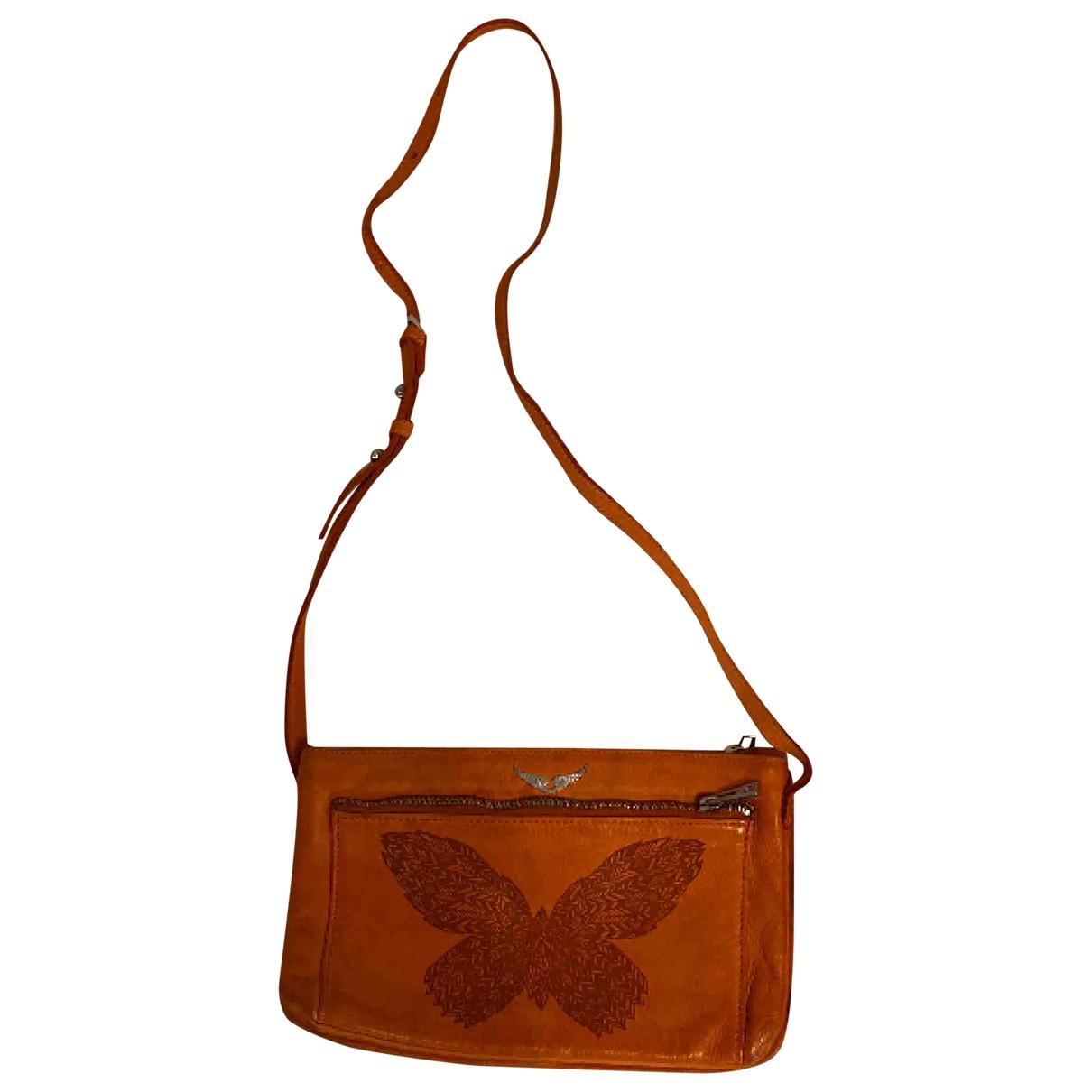 Zadig & Voltaire \N Orange Leather handbag for Women \N