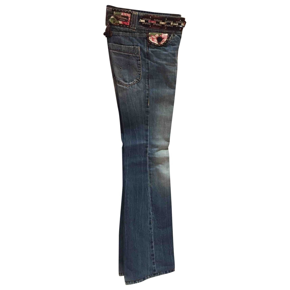 Roberto Cavalli \N Blue Cotton Jeans for Women 34 FR