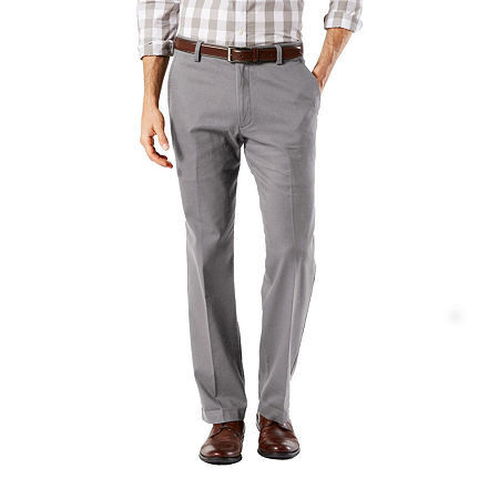 Dockers Men's Straight Fit Easy Khaki with Stretch Pants D2, 36 34, Gray