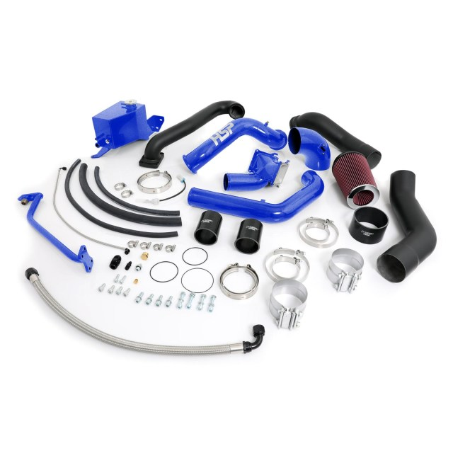 2007.5-2010 Chevrolet / GMC Over Stock Twin Kit No Turbo Corner Location Candy Blue HSP Diesel 412-HSP-CB