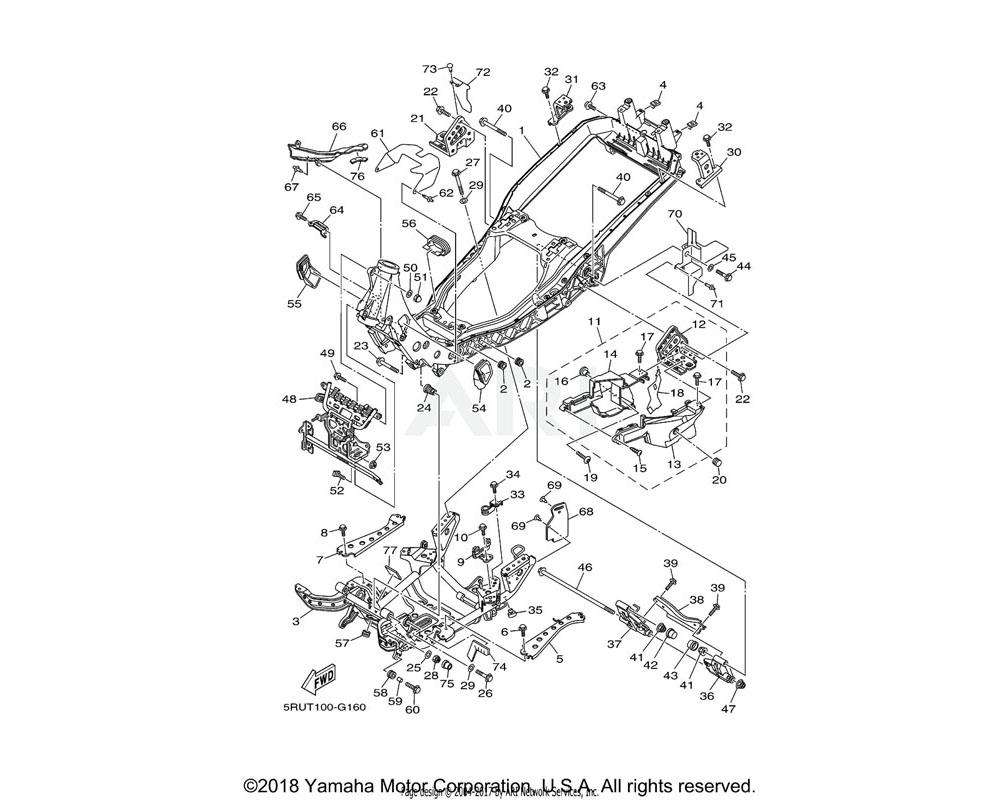 Yamaha OEM 90105-12046-00 BOLT, FLANGE