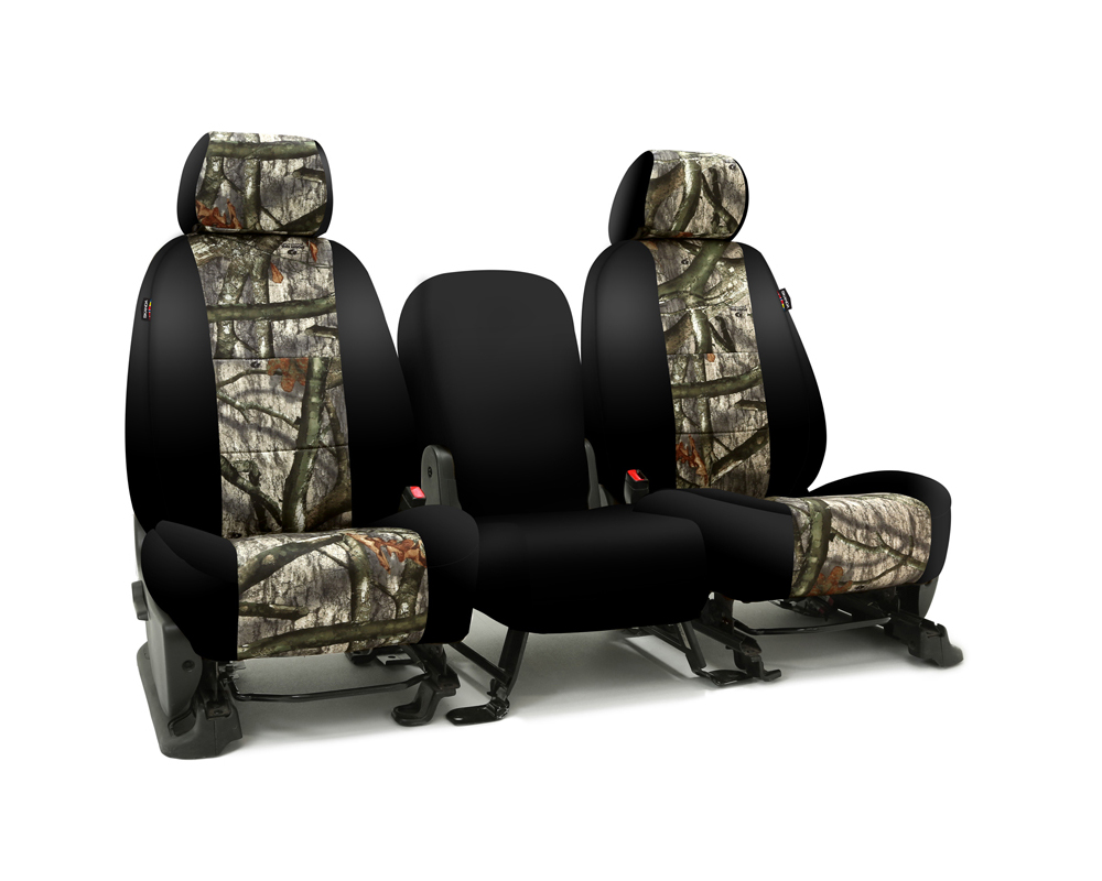 Coverking CSC2MO03CH7014 Skanda Custom Seat Covers 1 Row Neosupreme Mossy Oak Treestand with Black Sides Front Chevrolet Silverado 2500 | 3500 HD 2001