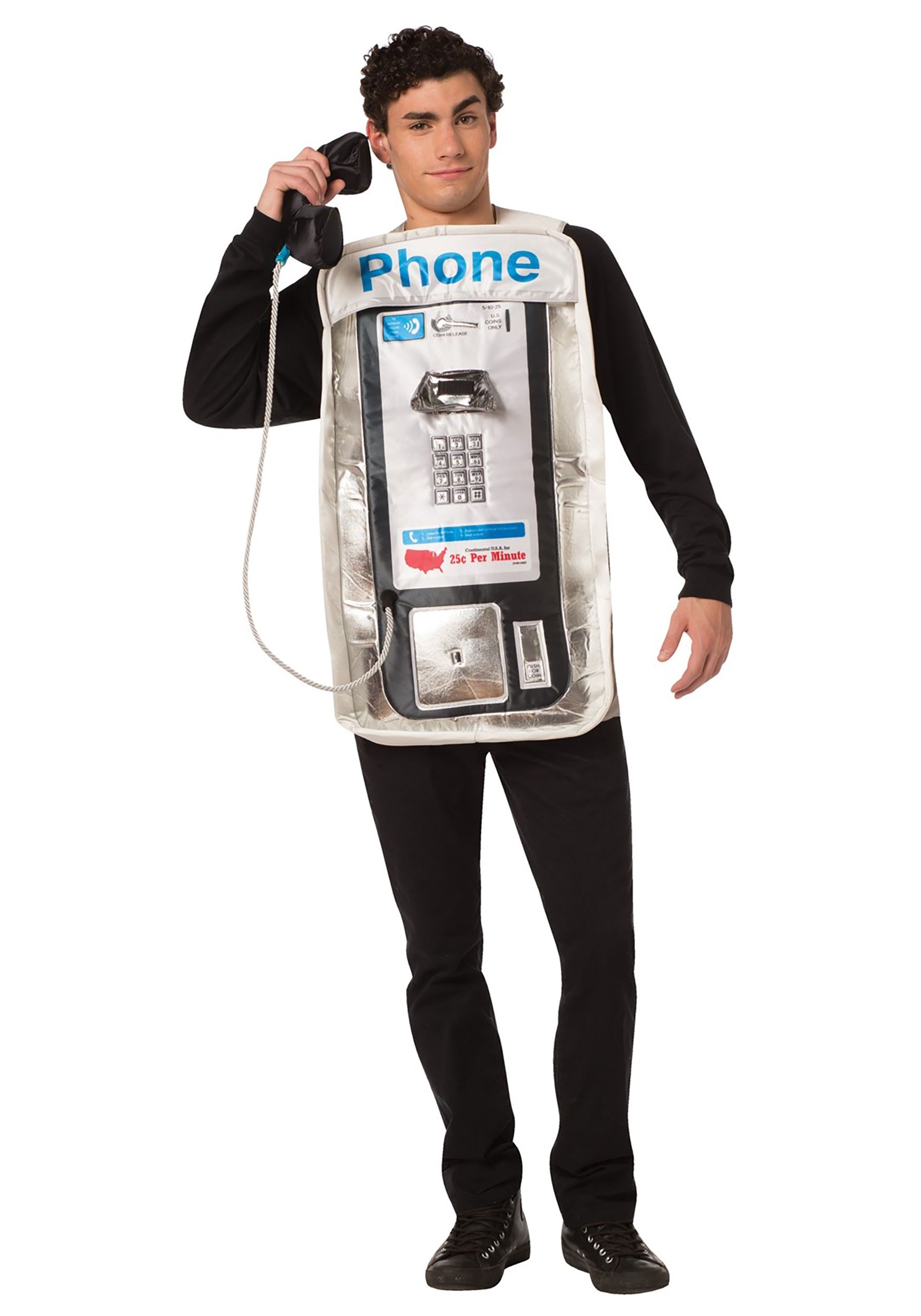 Funny Adult Pay Phone Costume