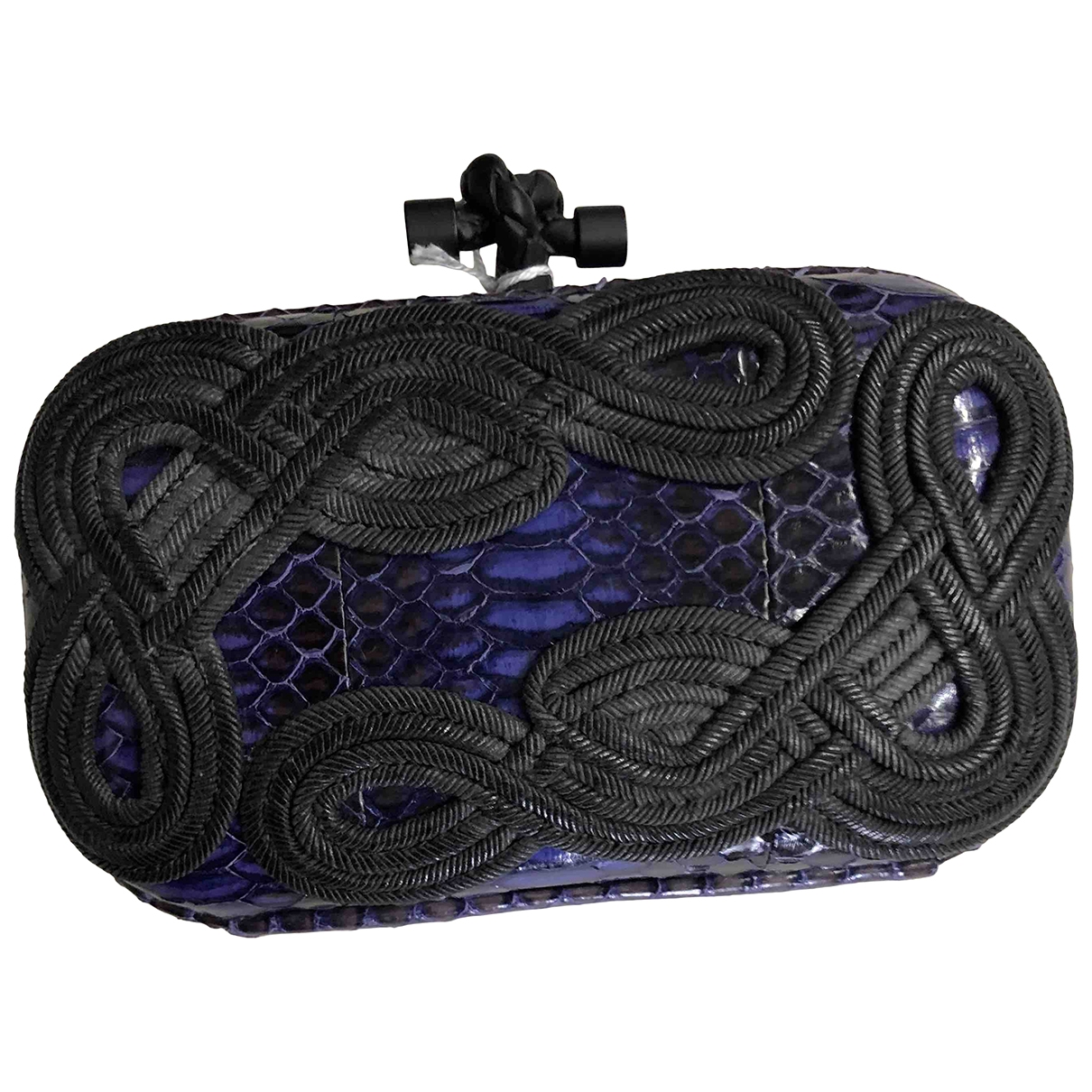 Bottega Veneta Pochette Knot Purple Python Clutch bag for Women \N