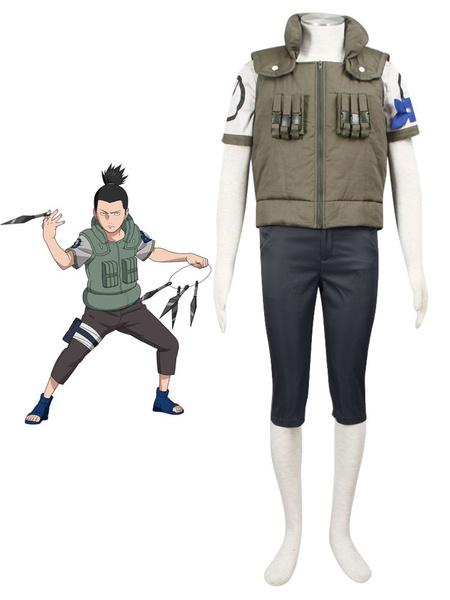 Milanoo Naruto First Season Nara Shikamaru Halloween Cosplay Costume