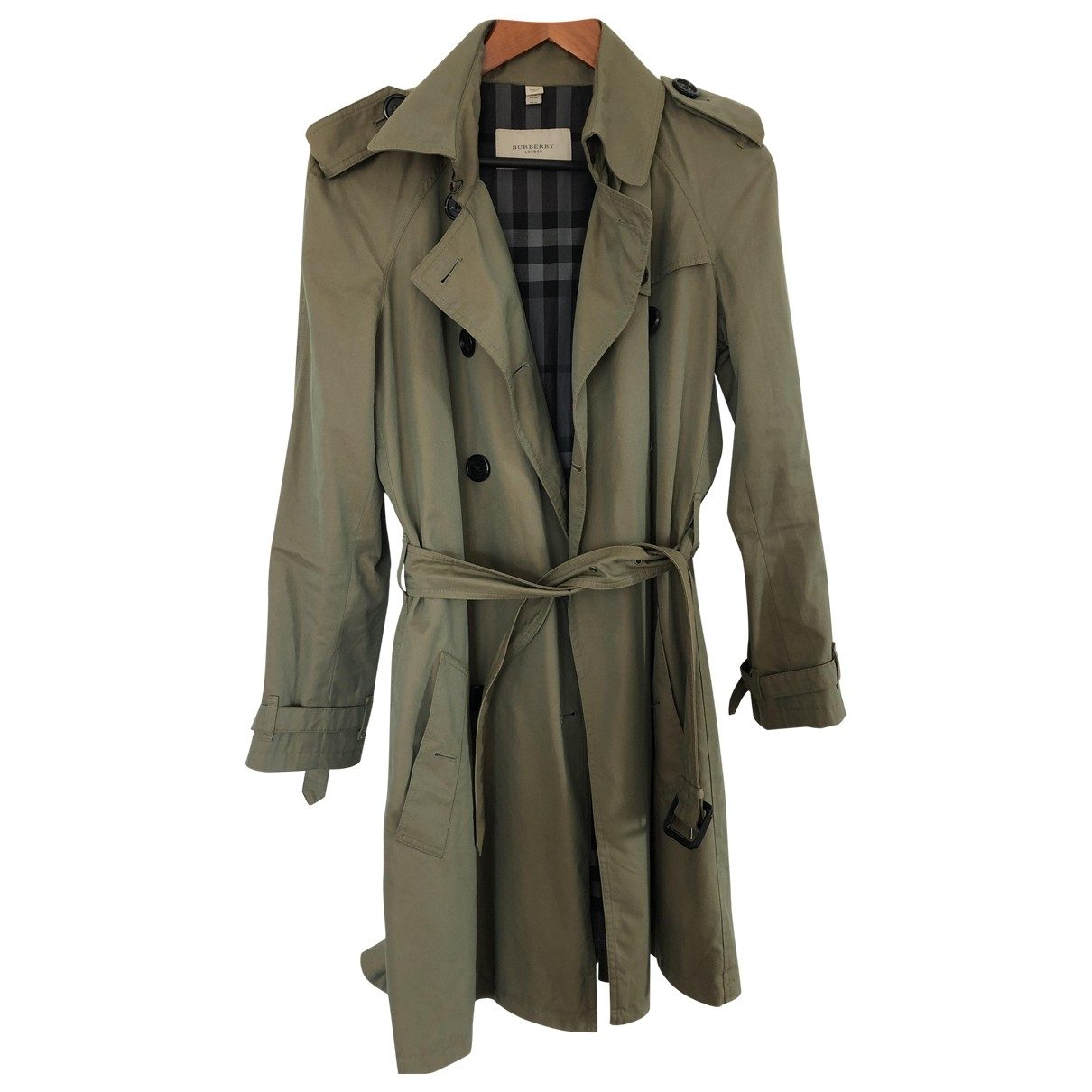 Burberry \N Green Cotton Trench coat for Women 40 FR