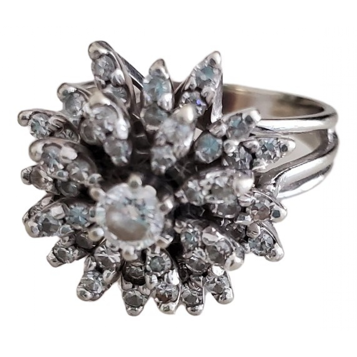 Non Signé / Unsigned Bagues Cocktails White White gold ring for Women 7 ½ US