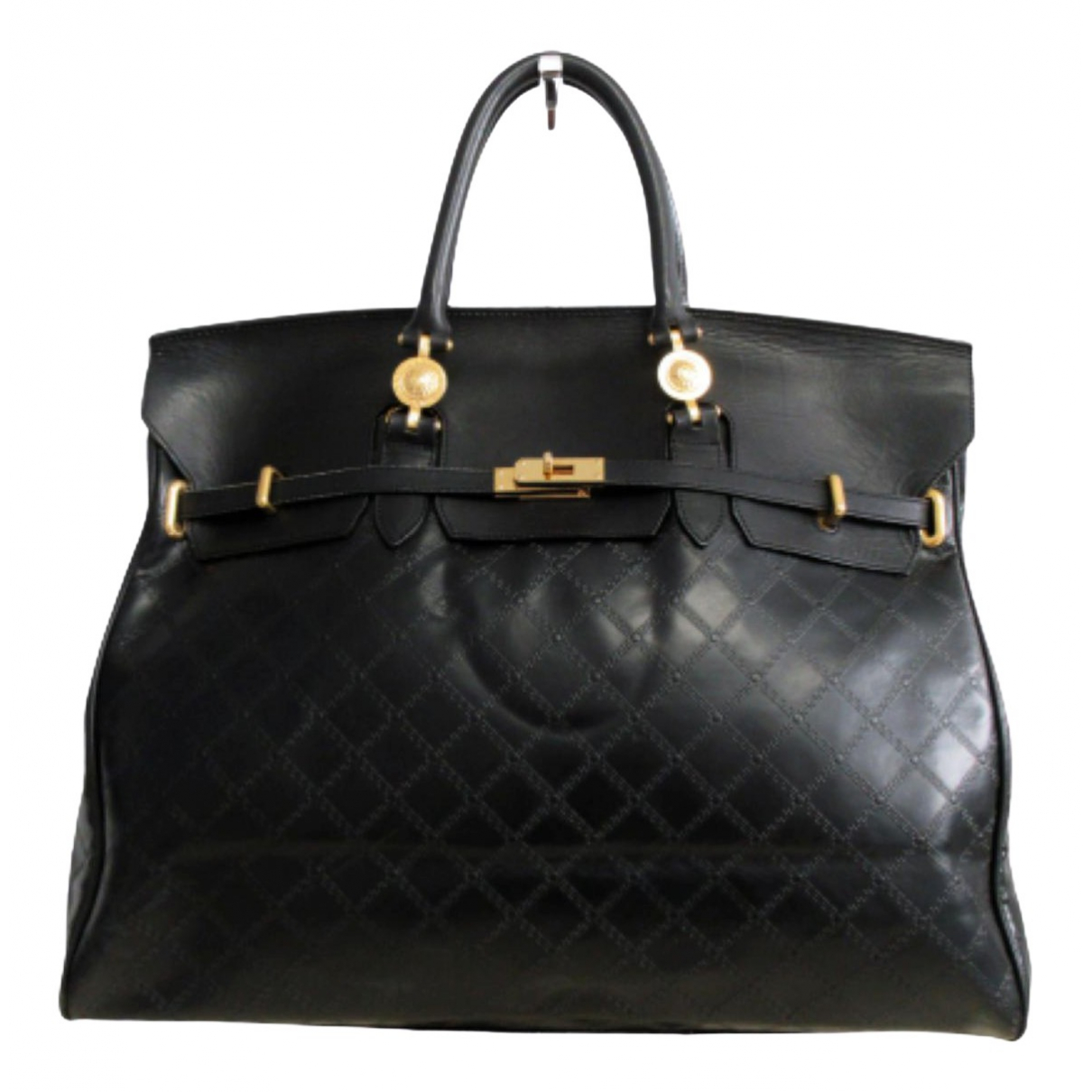 Gianni Versace \N Black Leather Travel bag for Women \N