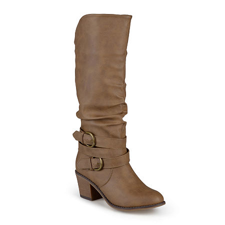 Journee Collection Womens Late Riding Boots, 8 Medium, Beige