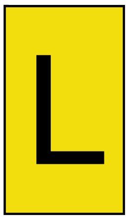 HellermannTyton Ovalgrip Slide On Cable Marker, Pre-printed L Black on Yellow 2.5 → 6mm Dia. Range