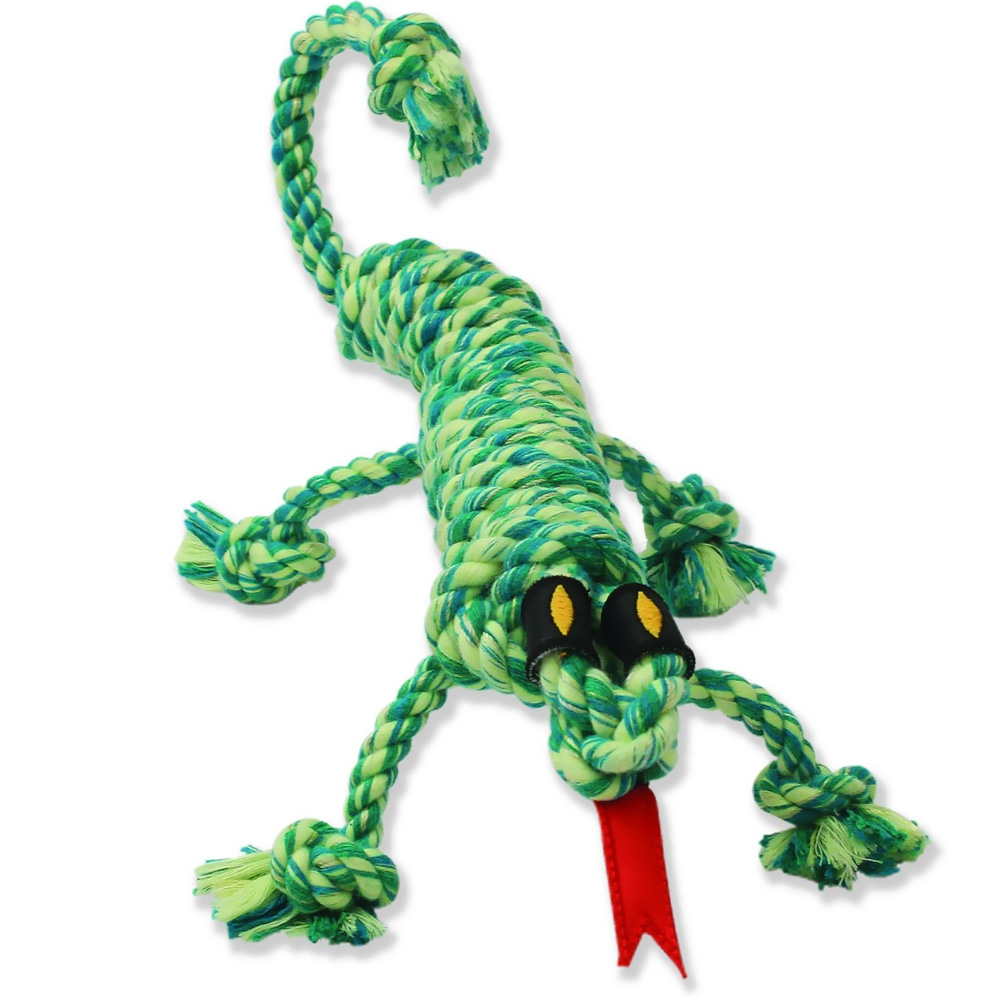 Mammoth SnakeBiter Iguana Rope Dog Toy 16