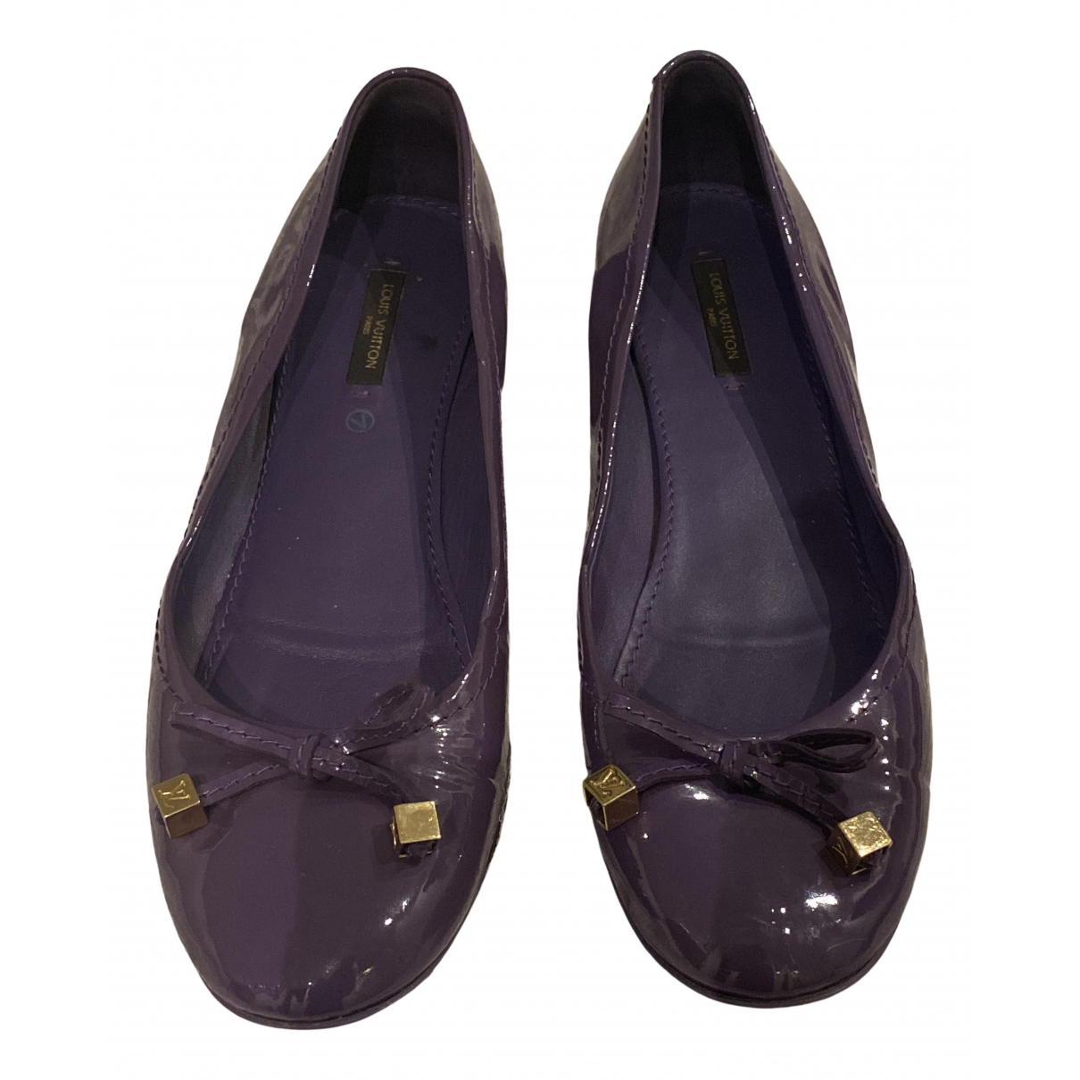 Louis Vuitton \N Purple Patent leather Ballet flats for Women 41 EU