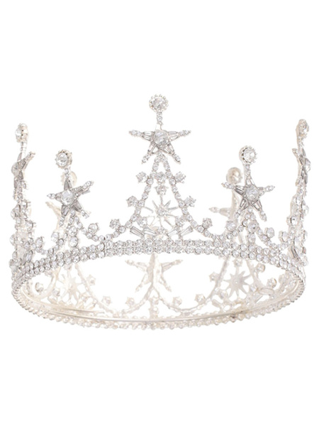 Milanoo Headpieces Wedding Tiara Metal Bridal Star Pearl Hair Accessories