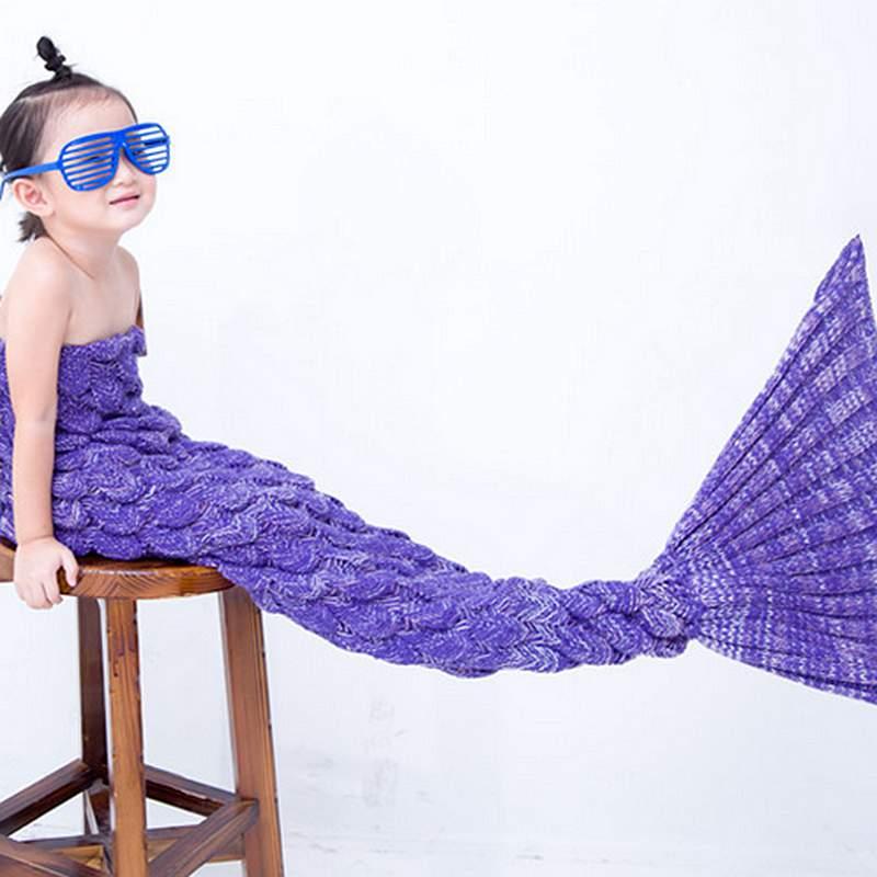 Softly and Warm Multicolor Option Kids Mermaid Blanket