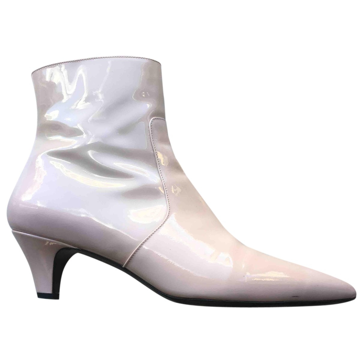 Calvin Klein 205w39nyc \N Pink Patent leather Ankle boots for Women 38 EU