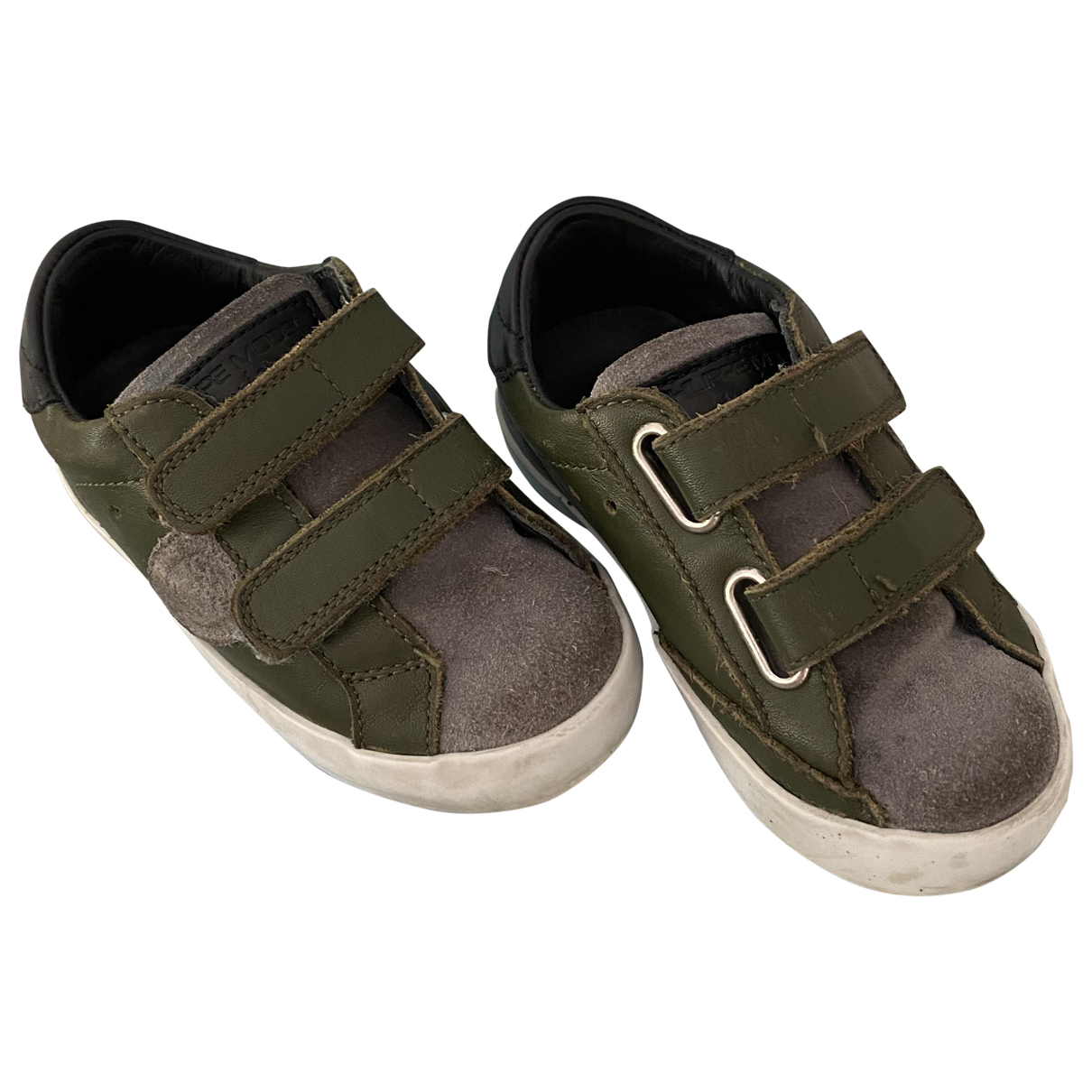 Philippe Model \N Green Leather Trainers for Kids 22 FR