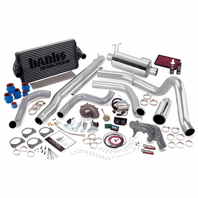 PowerPack Bundle Complete Power System W/Single Exit Exhaust Chrome Tip 99.5 Ford 7.3L F450/F550 Automatic Transmission Banks Power 47441