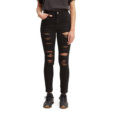 Levi's 720 High Rise Super Skinny Jean, 28 , Black