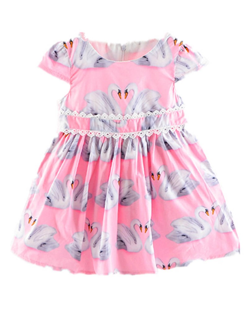 Ericdress Pleated Patchwork Lace Stringy Selvedge Baby Girl's Dress