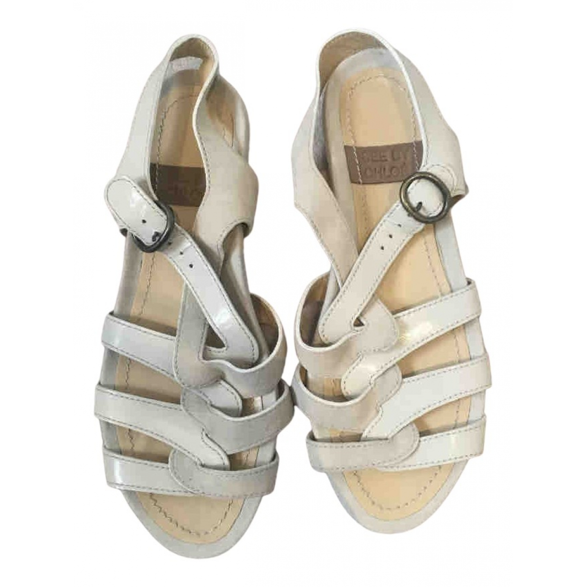 See By Chloé N Ecru Leather Sandals for Women 37 EU