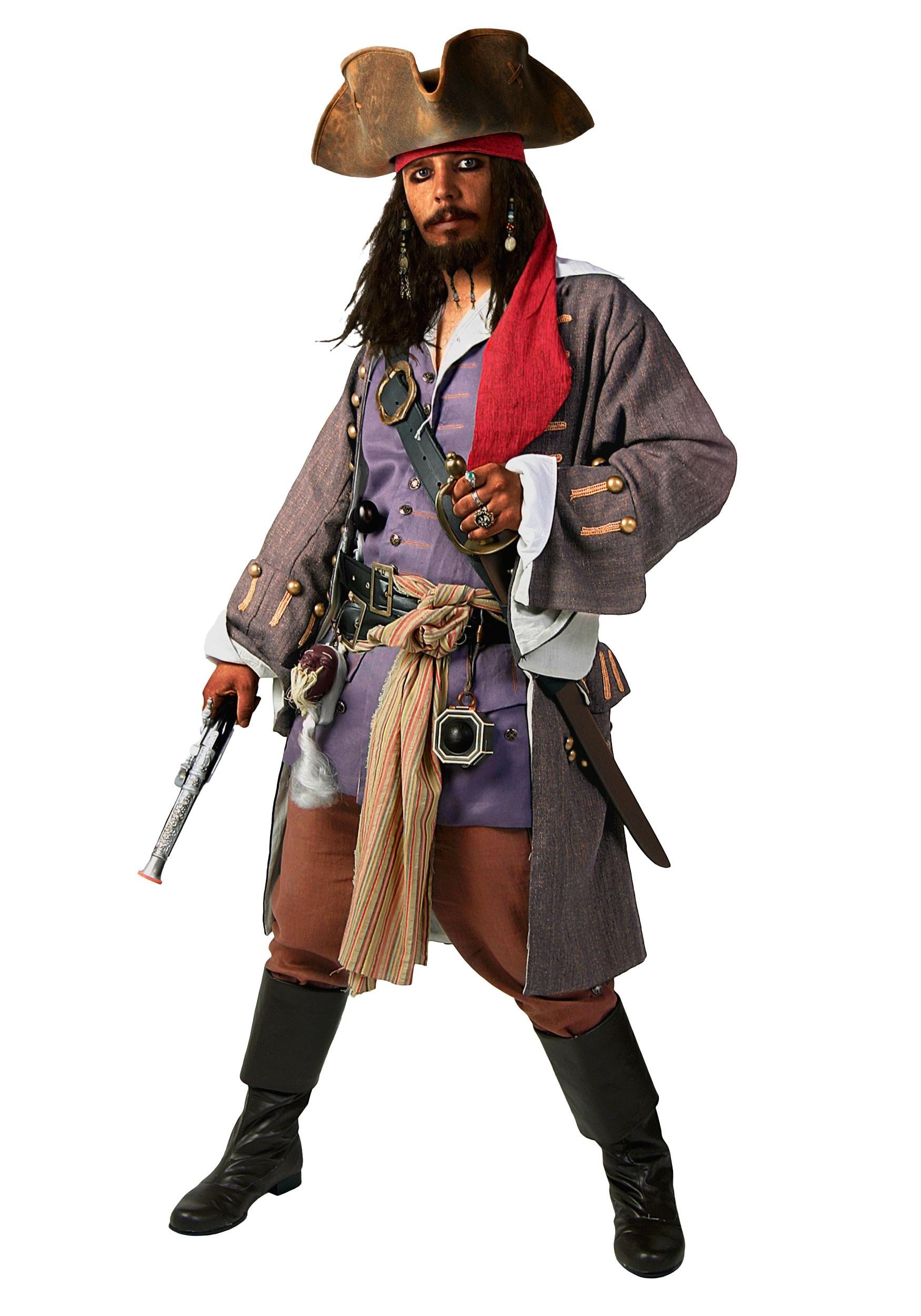 Realistic Caribbean Pirate Costume | Mens Pirate Costume