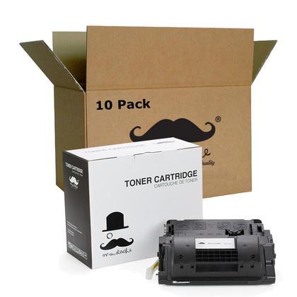 Compatible HP 90X CE390X cartouche de toner noire haute capacite - Moustache - 10/paquet