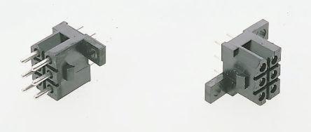 ITT Cannon , 24 Way, 4 Row, Straight Backplane Connector