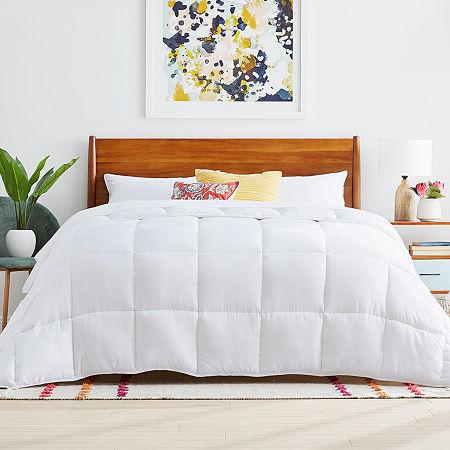 Linenspa Reversible Down Alternative Comforter, One Size , White