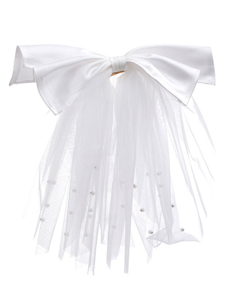 Milanoo Wedding Headpiece Headwear Cotton Blend Hair Accessories For Bride