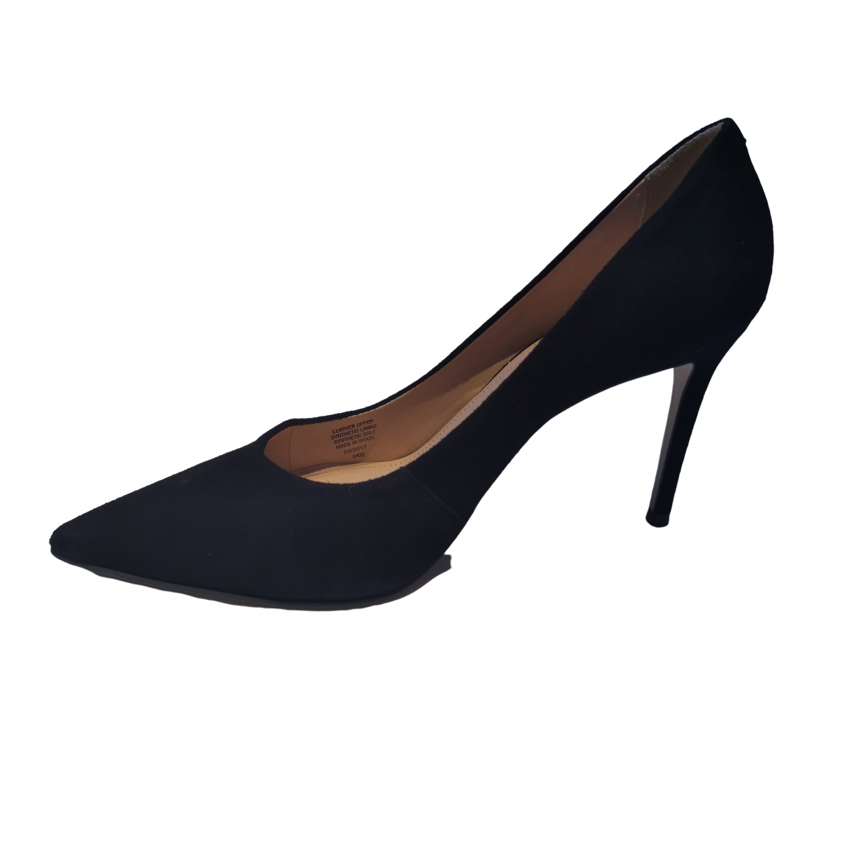 Non Signé / Unsigned \N Black Suede Heels for Women 40 EU