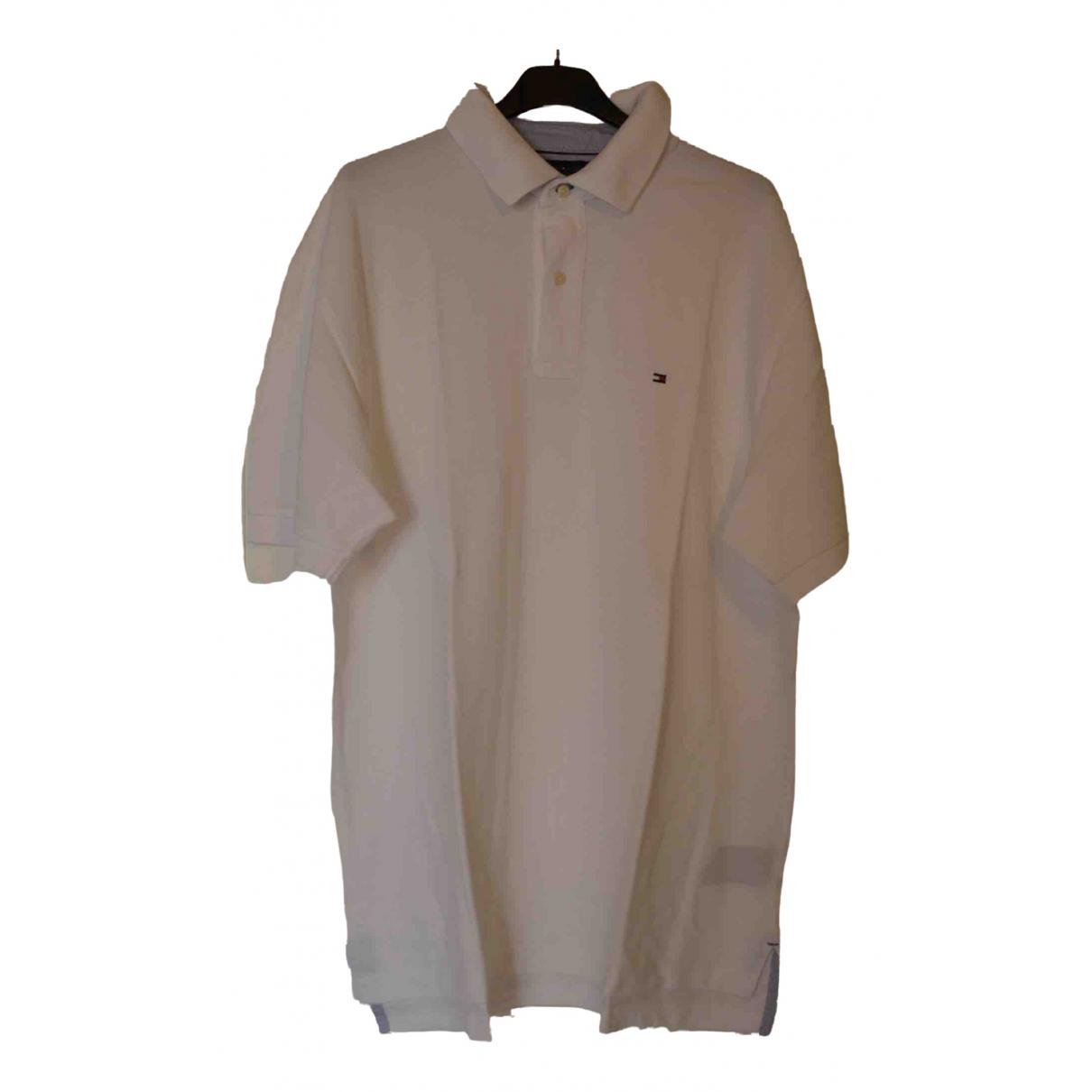 Tommy Hilfiger \N White Cotton Polo shirts for Men L International