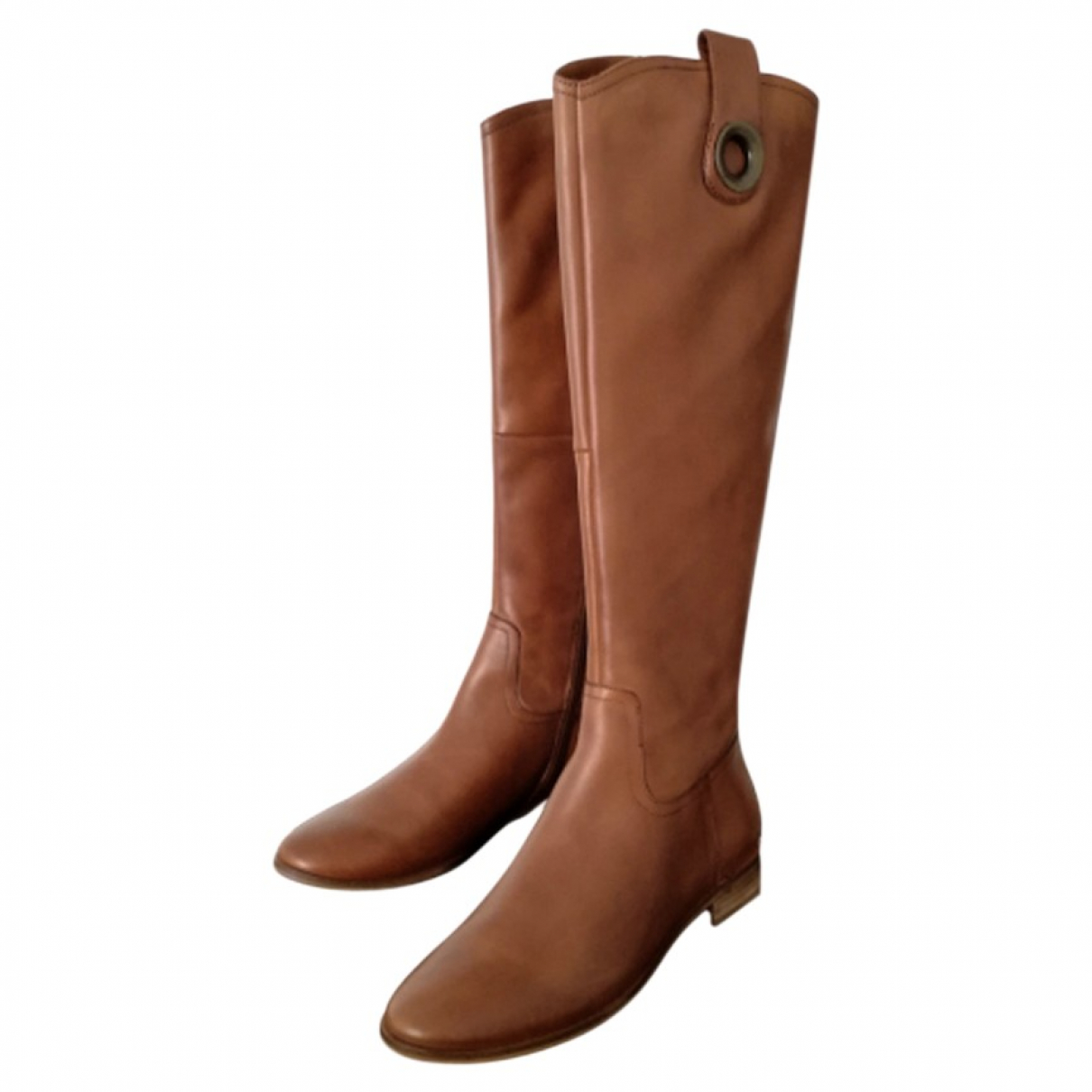 Non Signé / Unsigned \N Camel Leather Boots for Women 36 IT