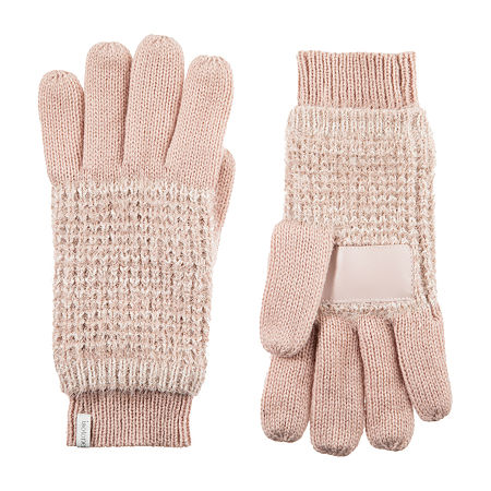 Isotoner Feather Yarn Knit Cold Weather Gloves, One Size , Pink