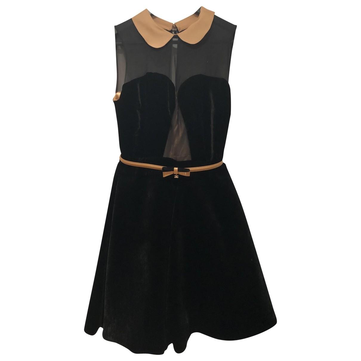 Elisabetta Franchi \N Black Silk dress for Women 40 IT