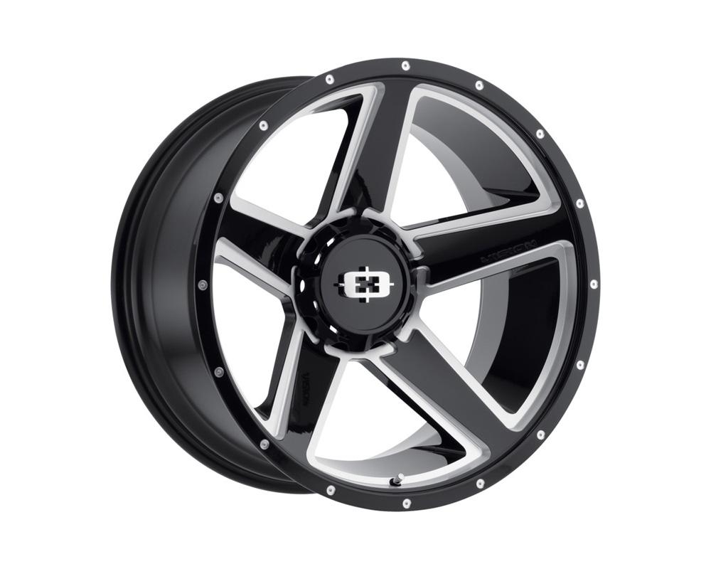 Vision Empire Gloss Black Milled Spoke Wheel 20x9 8x180 12