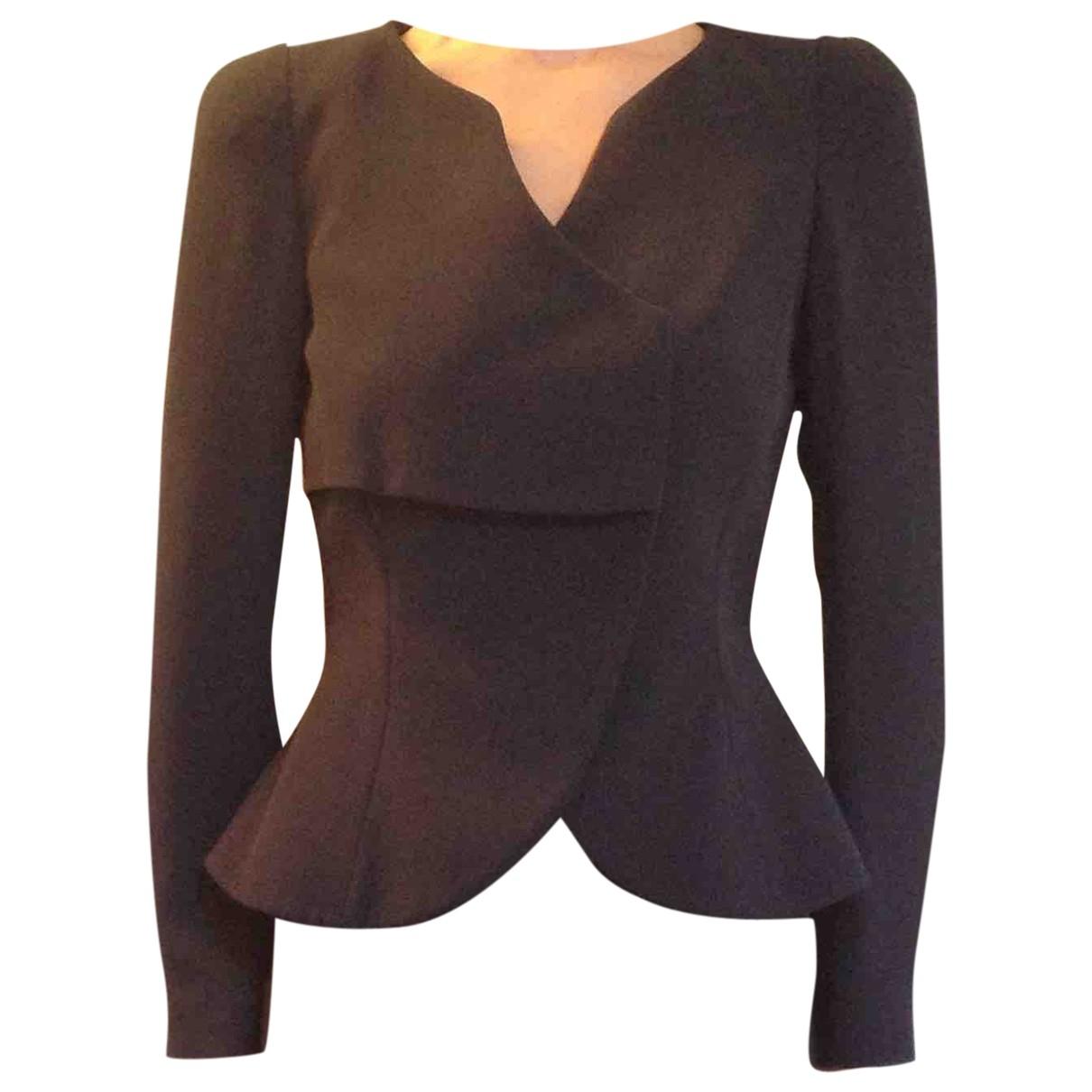Giorgio Armani \N Blue Silk jacket for Women 42 IT